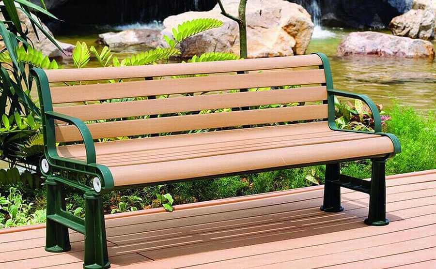 Wood Plastic Outdoor Bench