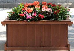 Ecologically friendly outdoor flower box