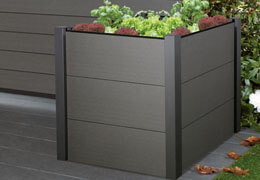 Outdoor flower boxes with good physical properties