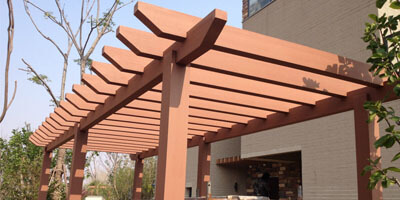 The Pergola With Good Adornment Effect and Simple Structure