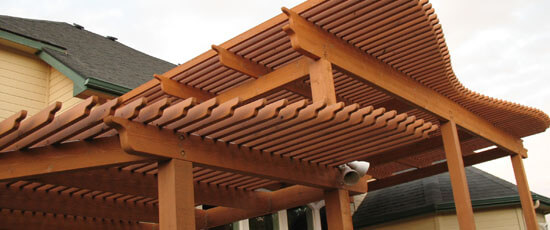 Pergolas can help improve the quality of the outdoor experience