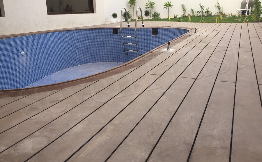 Outdoor Decking Project in Saudi Arabia
