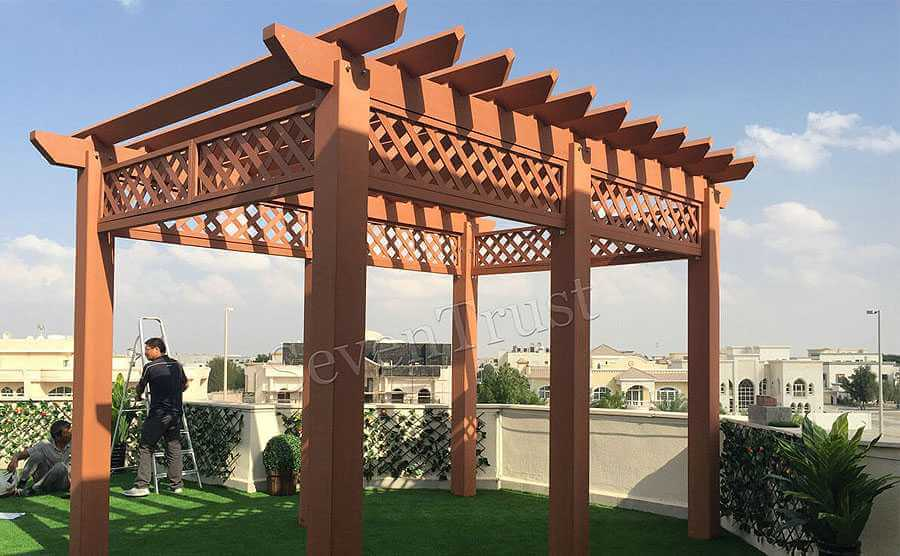 WPC Pergola Project In Dubai