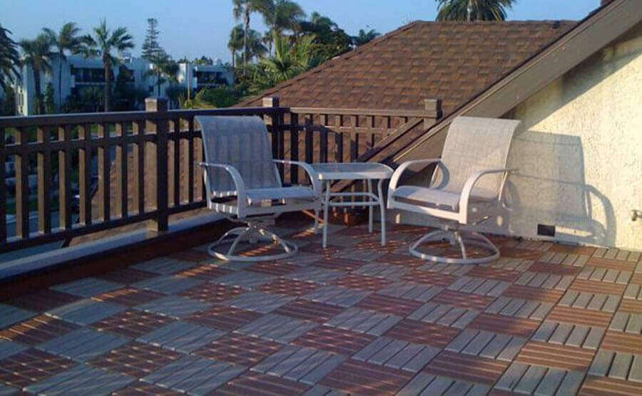 Balcony Deck With Comfort Appearance