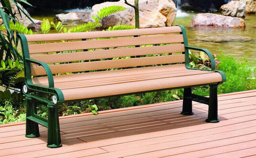 plastic wood products in public environment