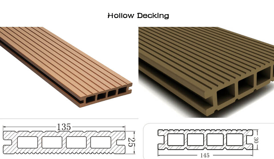 outdoor WPC hollow decking