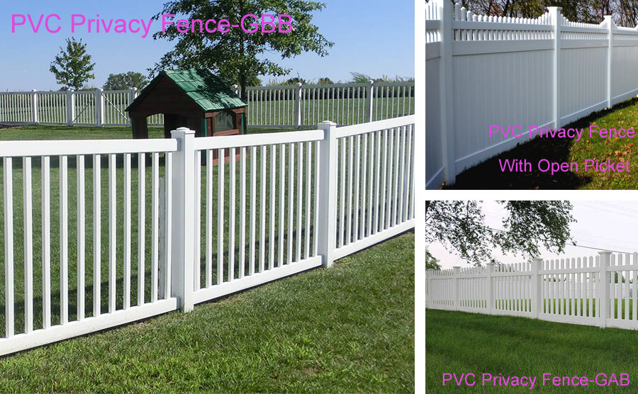 Our Latest Outdoor PVC Fence Options