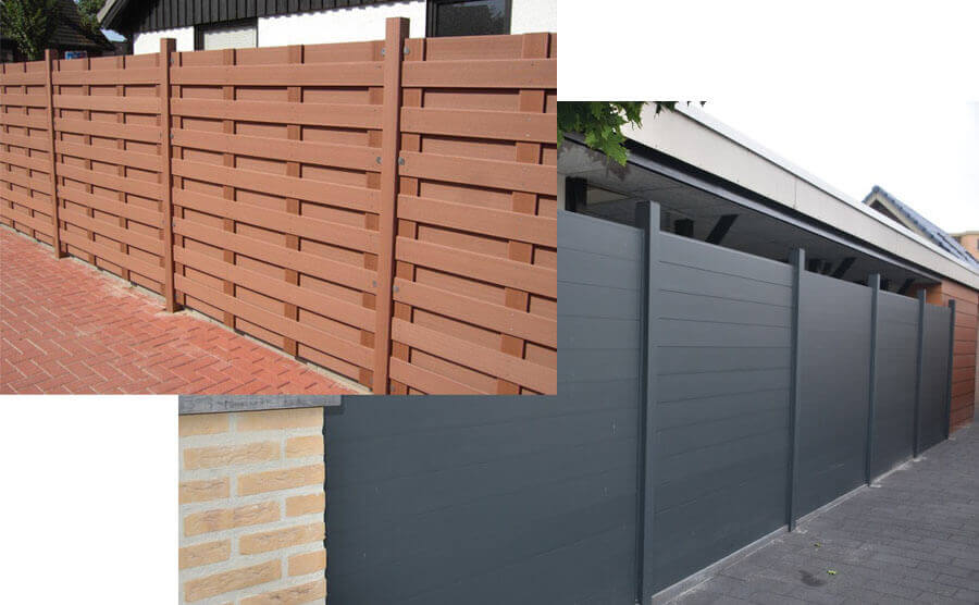 Outdoor Garden WPC Fence Color