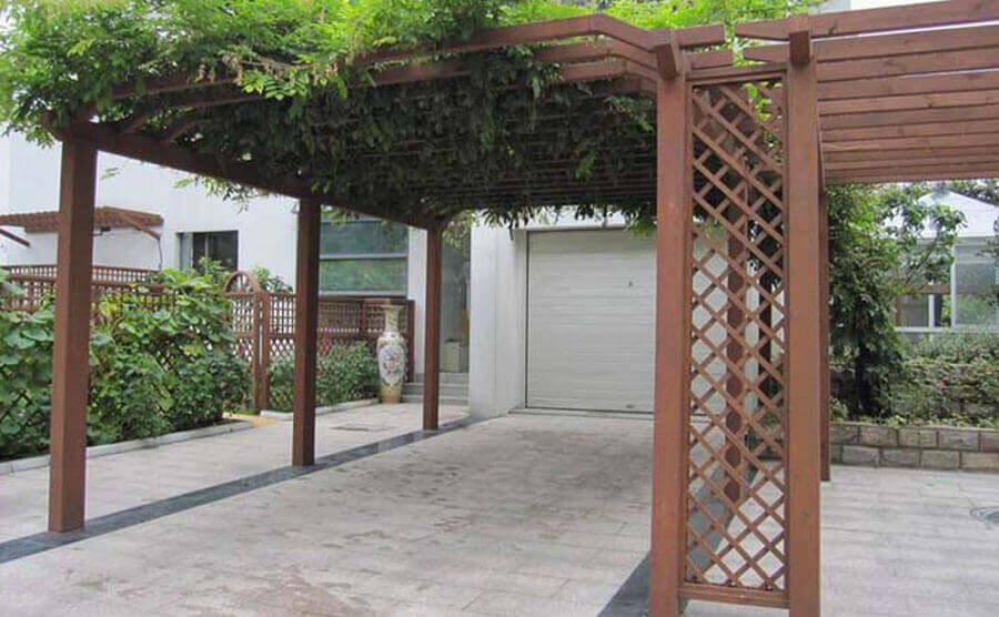 Design and Application of Garden Plastic Wood Pergola