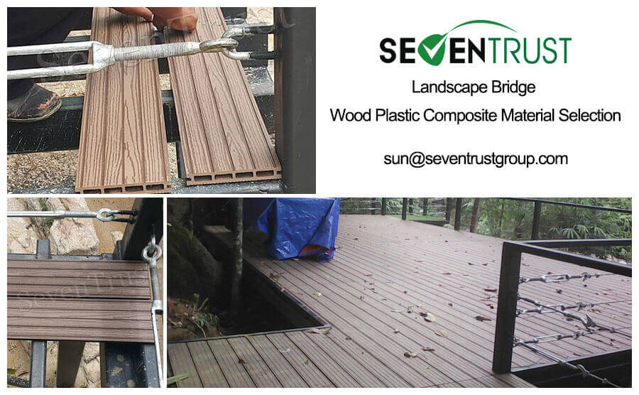 Landscape Bridge Wood Plastic Composite Material Selection