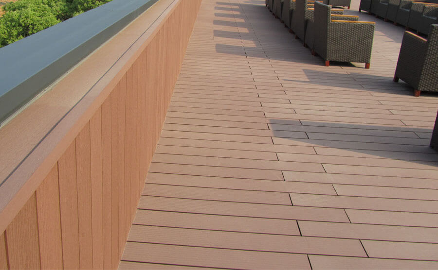balcony design and transformation of wpc materials show advantages case