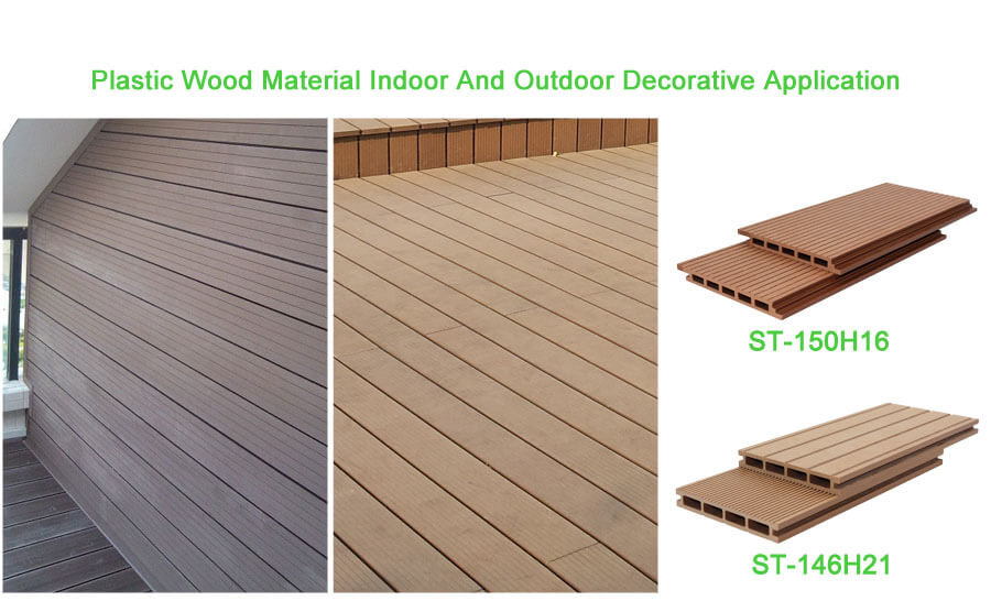 Plastic Wood Material Indoor And Outdoor Decorative Application