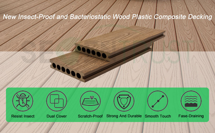 New Insect-Proof and Bacteriostatic Wood Plastic Composite Decking